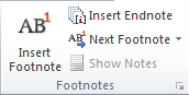 fungsi dari footnotes di microsoft word