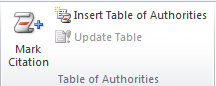 fungsi dari  table of authorities di microsoft word