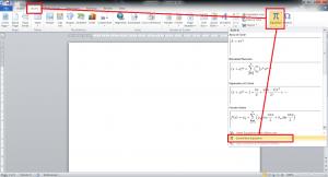 cara mengaktifkan equation di word 2007