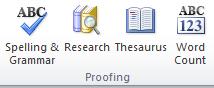 fungsi proofing di tab reviews
