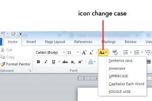 fungsi change case