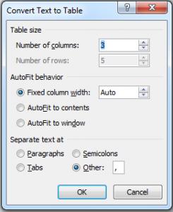 mengubah teks menjadi tabel di microsoft word