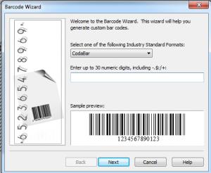 kode batang di microsoft word