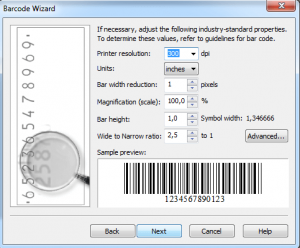 how to make barcode in word